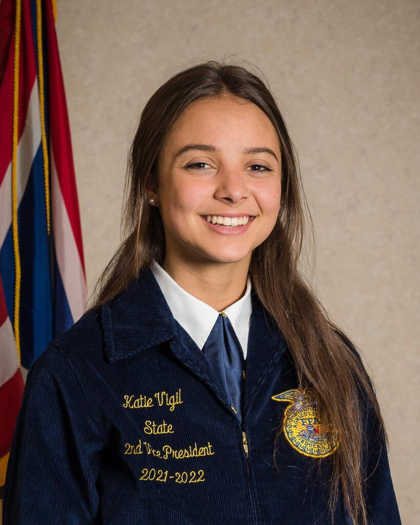 Katie Vigil, Wyoming FFA 2nd Vice President
